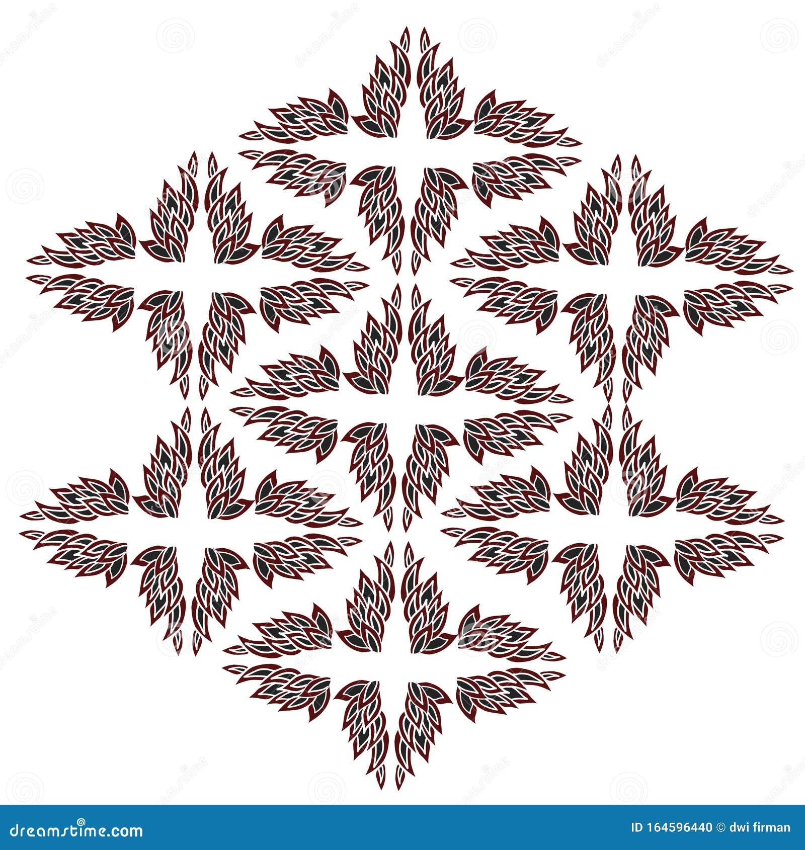 Simple Design Of Batik Modern Very Cool Stock Illustration