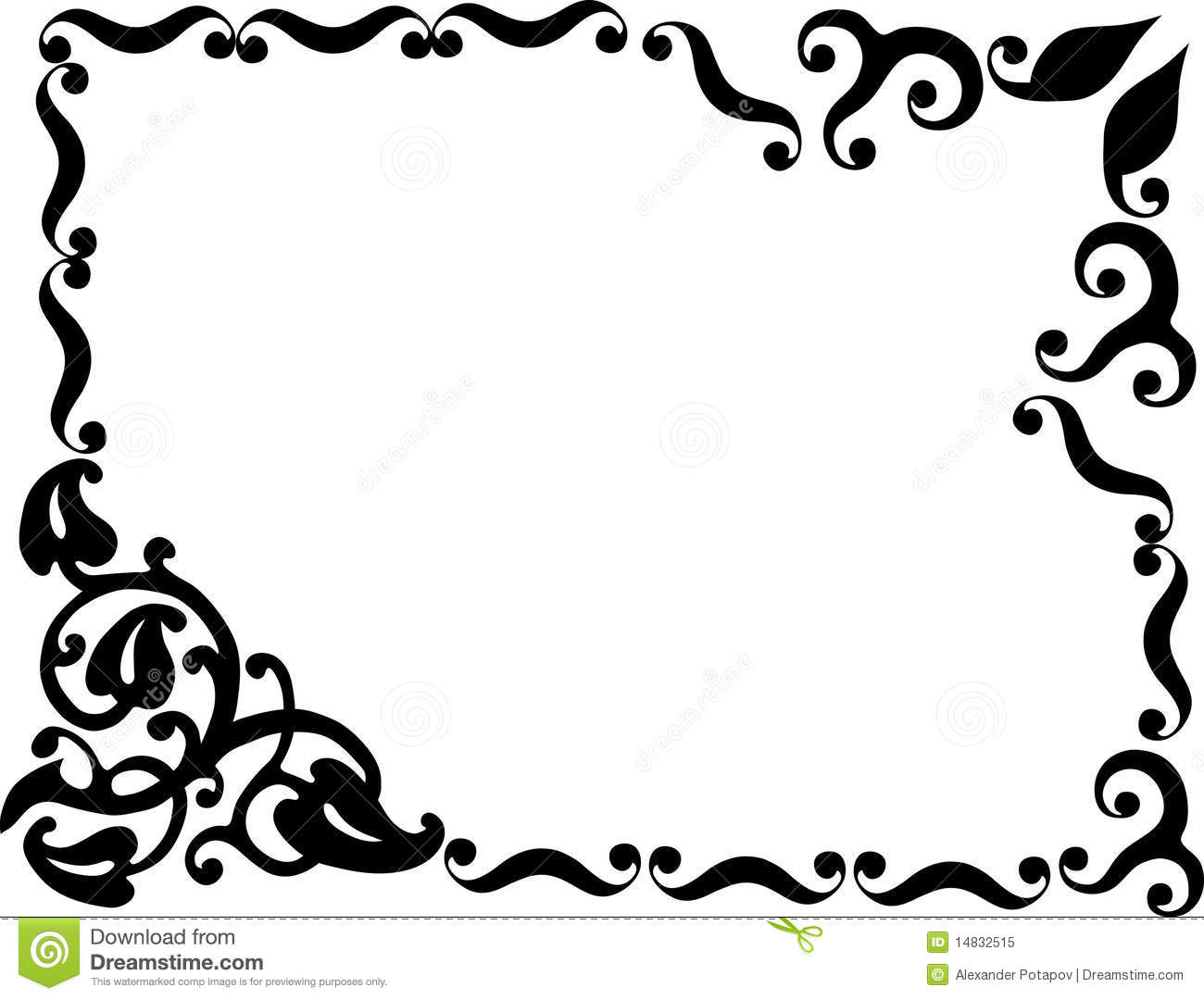 Simple Design With Black Frame Stock Vector Illustration Of Part