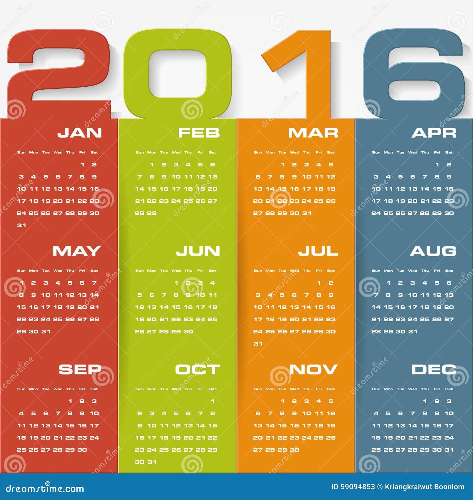 January Calendar Design : Simple design calendar year vector template