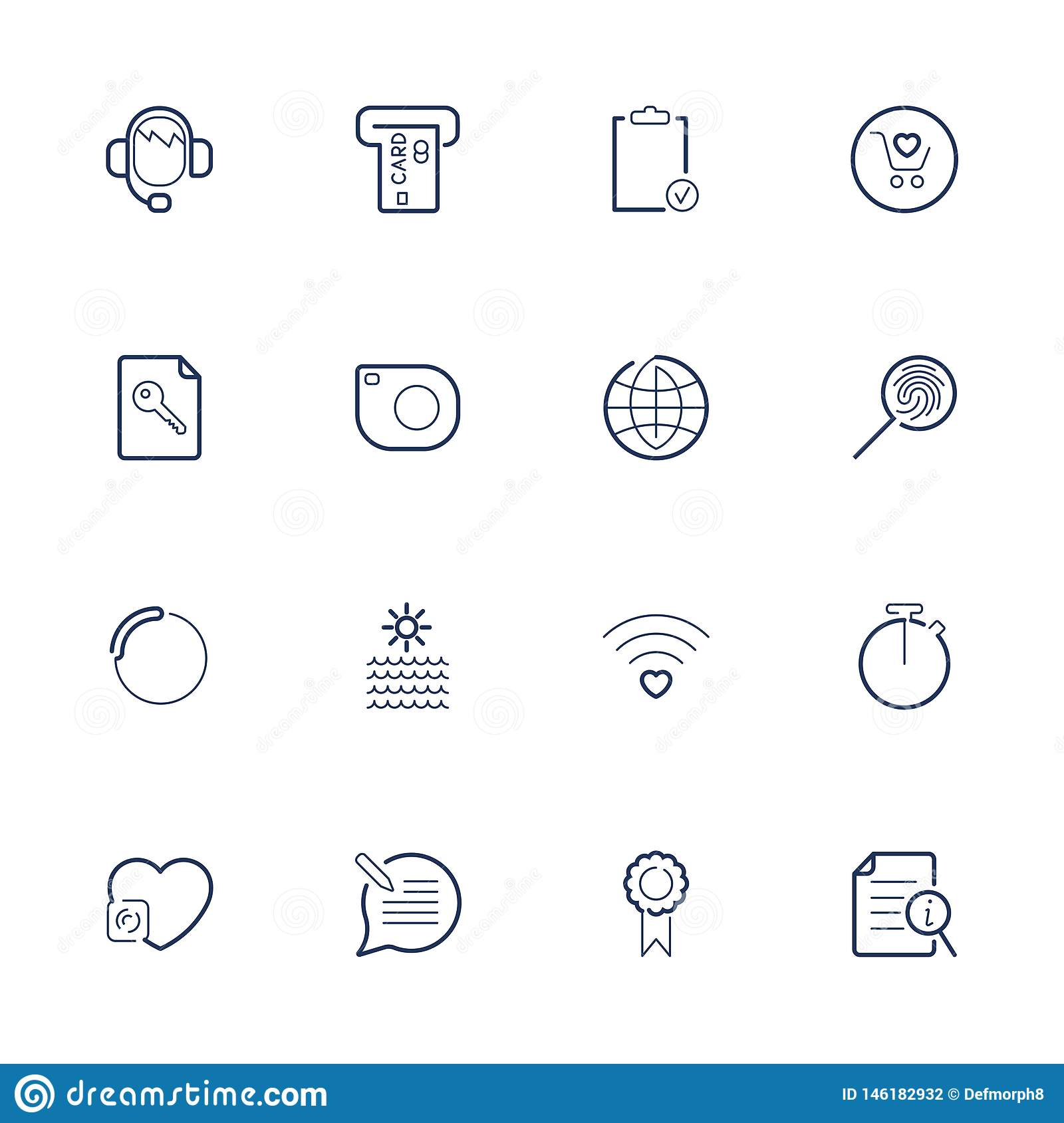 Simple different web icons. Set icons for app, programs, sites