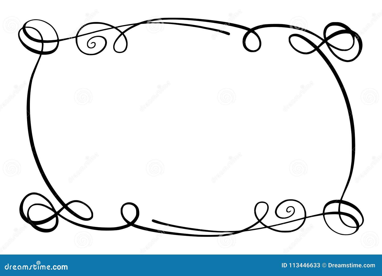 black white squiggle border stock illustrations  u2013 107