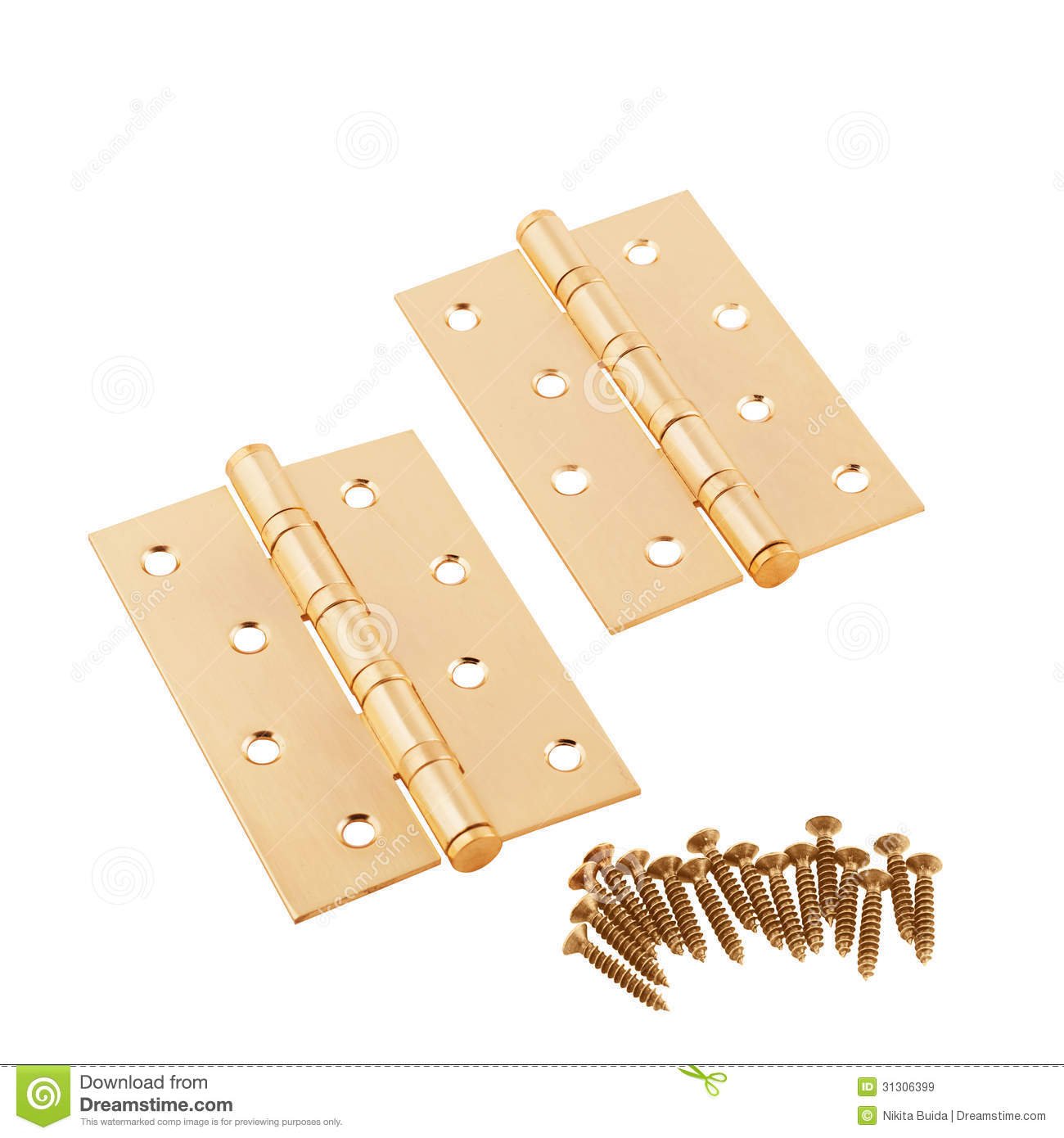 Simple door hinges royalty free stock images image 31306399 for Simple door images