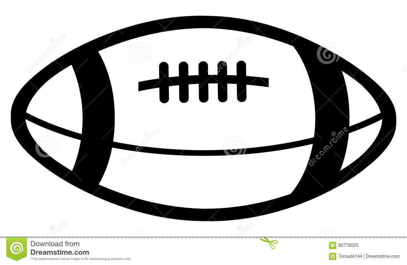 Simple Drawing Of An American Football Ball Of Black Color Stock Illustration Illustration Of Equipment Spectator 85776025