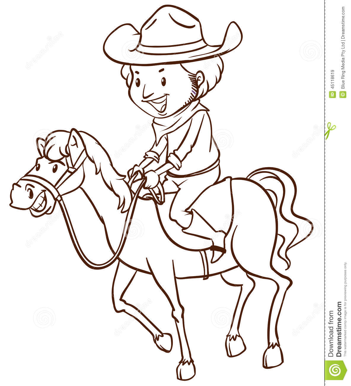 how to draw a cowboy for kids