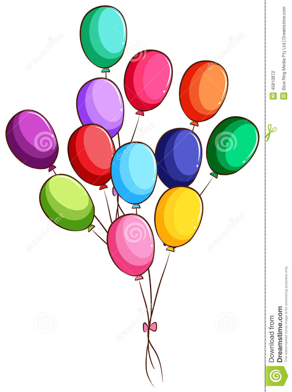 A simple drawing of a group of balloons stock vector illustration of group background 45810872