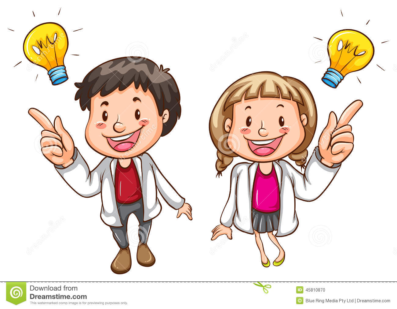 A Simple Drawing Of Smart People Stock Vector - Image ...