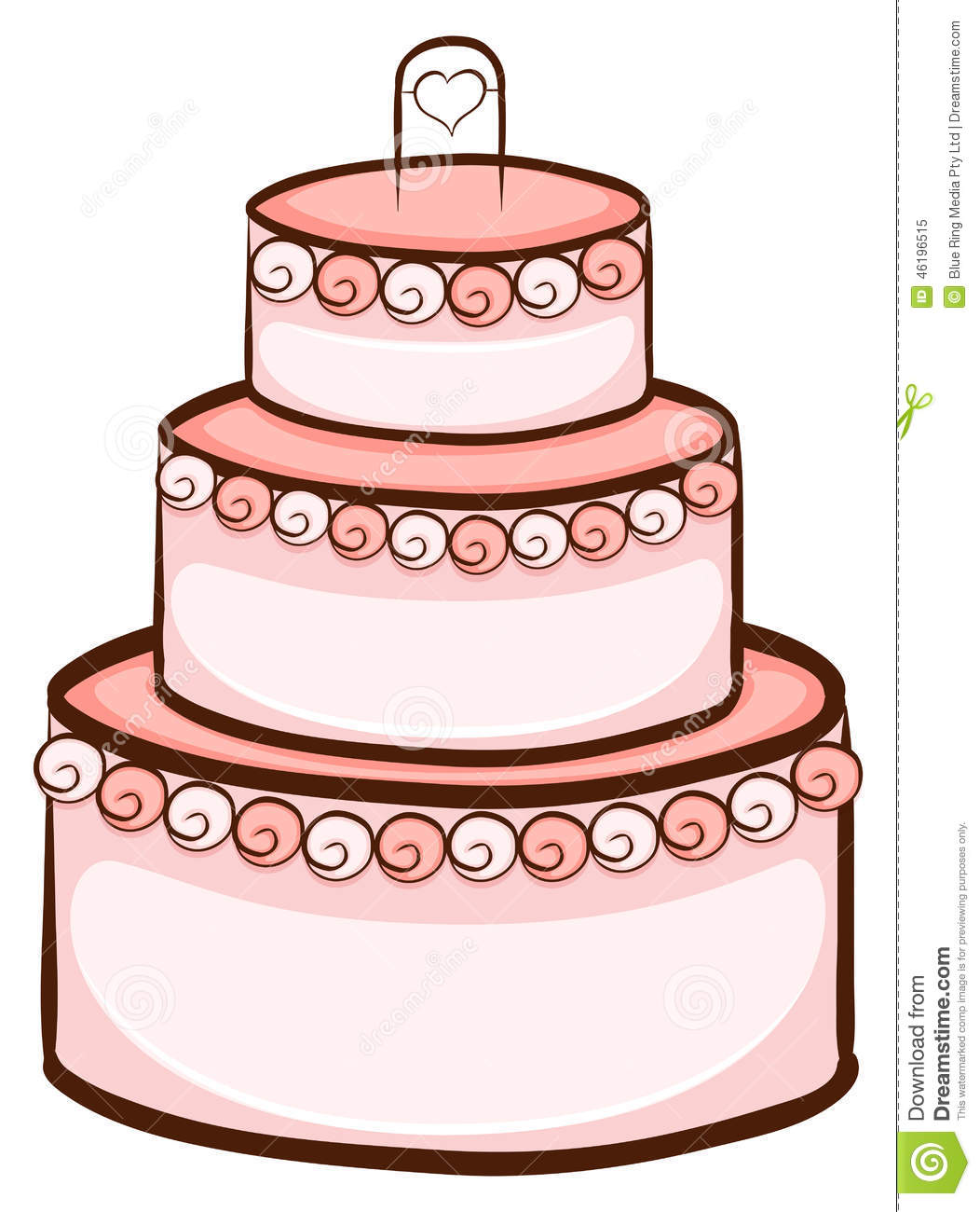 A Simple Drawing Of A Wedding Cake Stock Vector - Illustration of ...