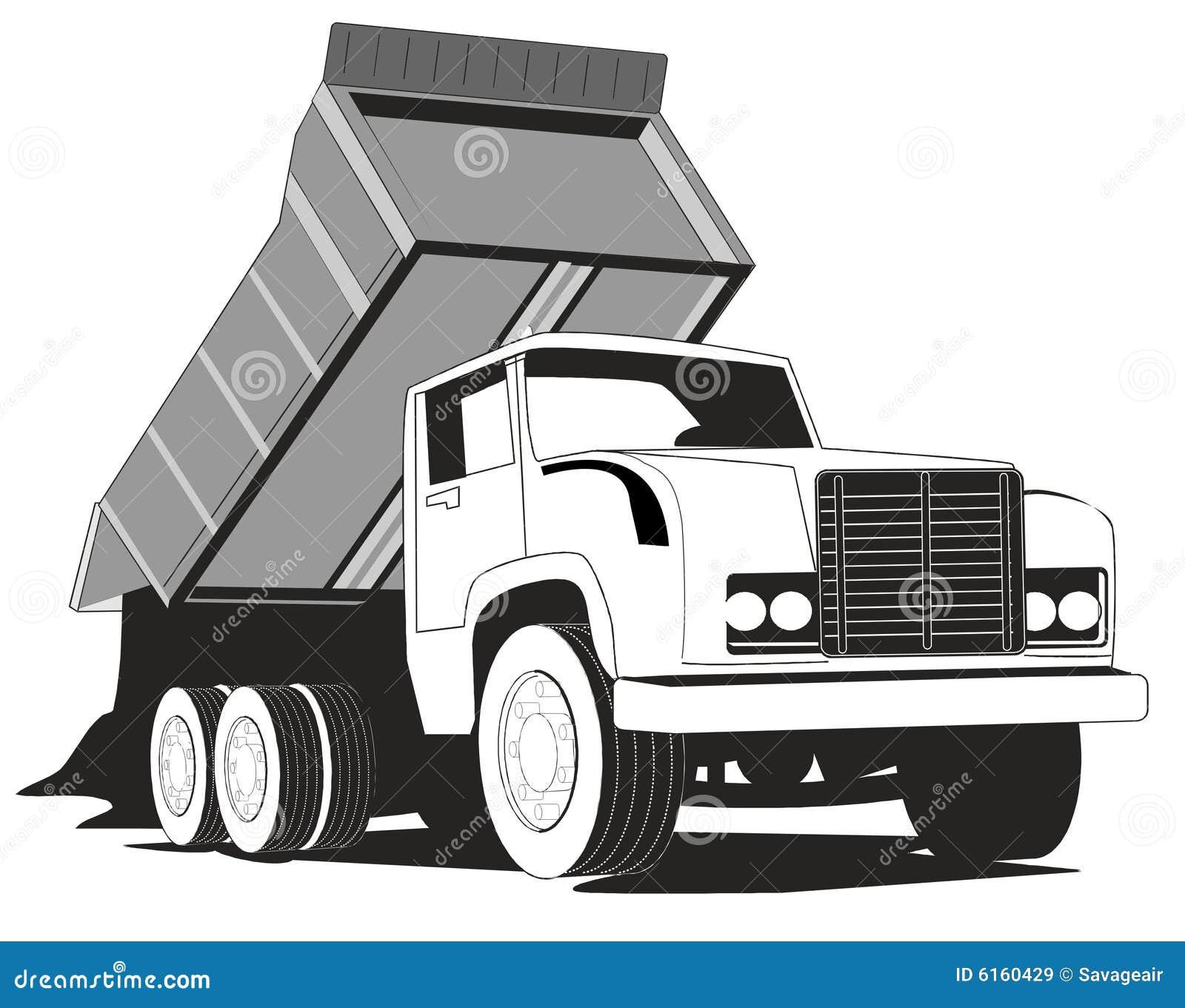 Simple Dump Truck Stock Vector Image Of Basic White