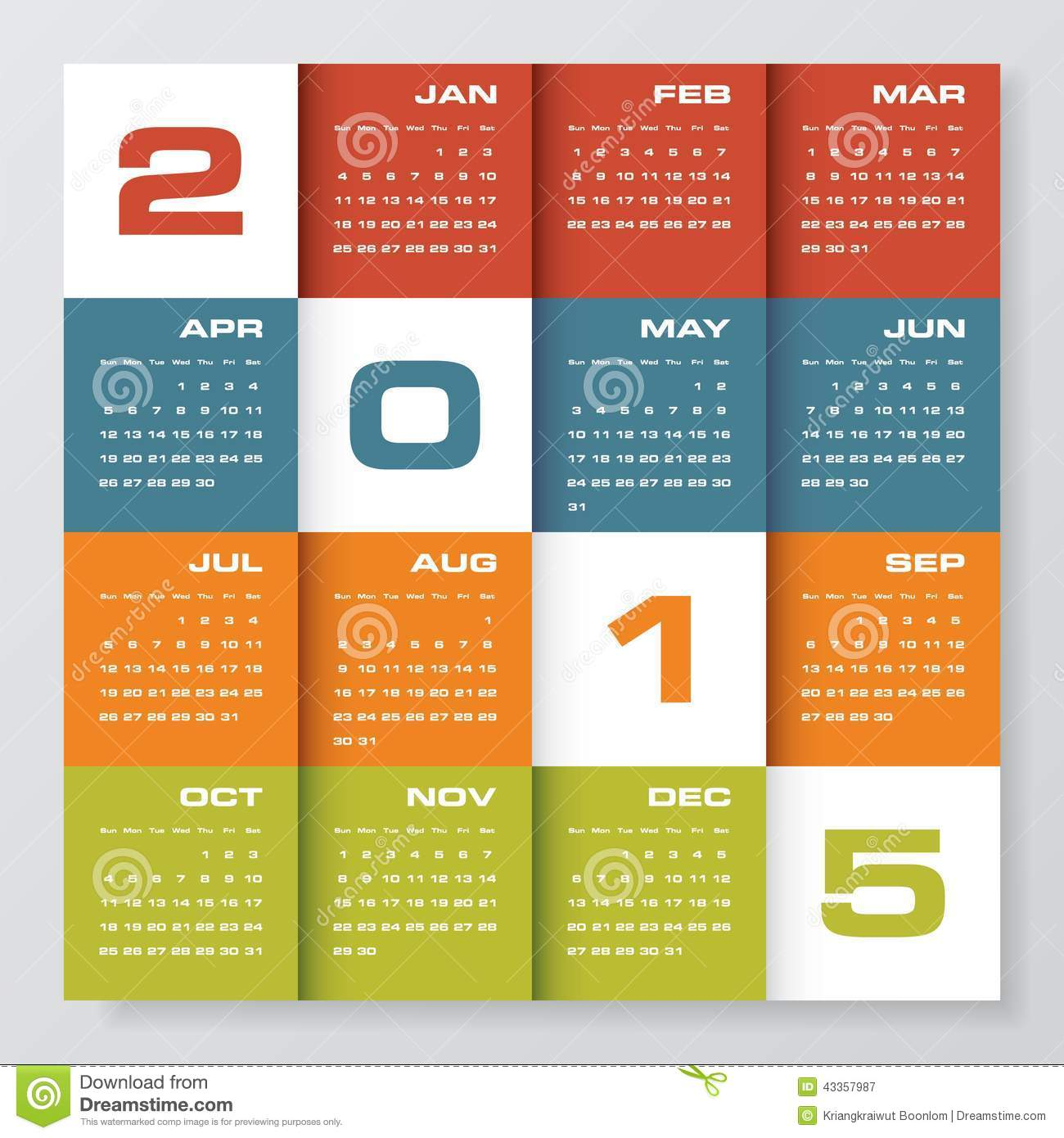 Calendar Design For Website : Simple editable vector calendar stock image