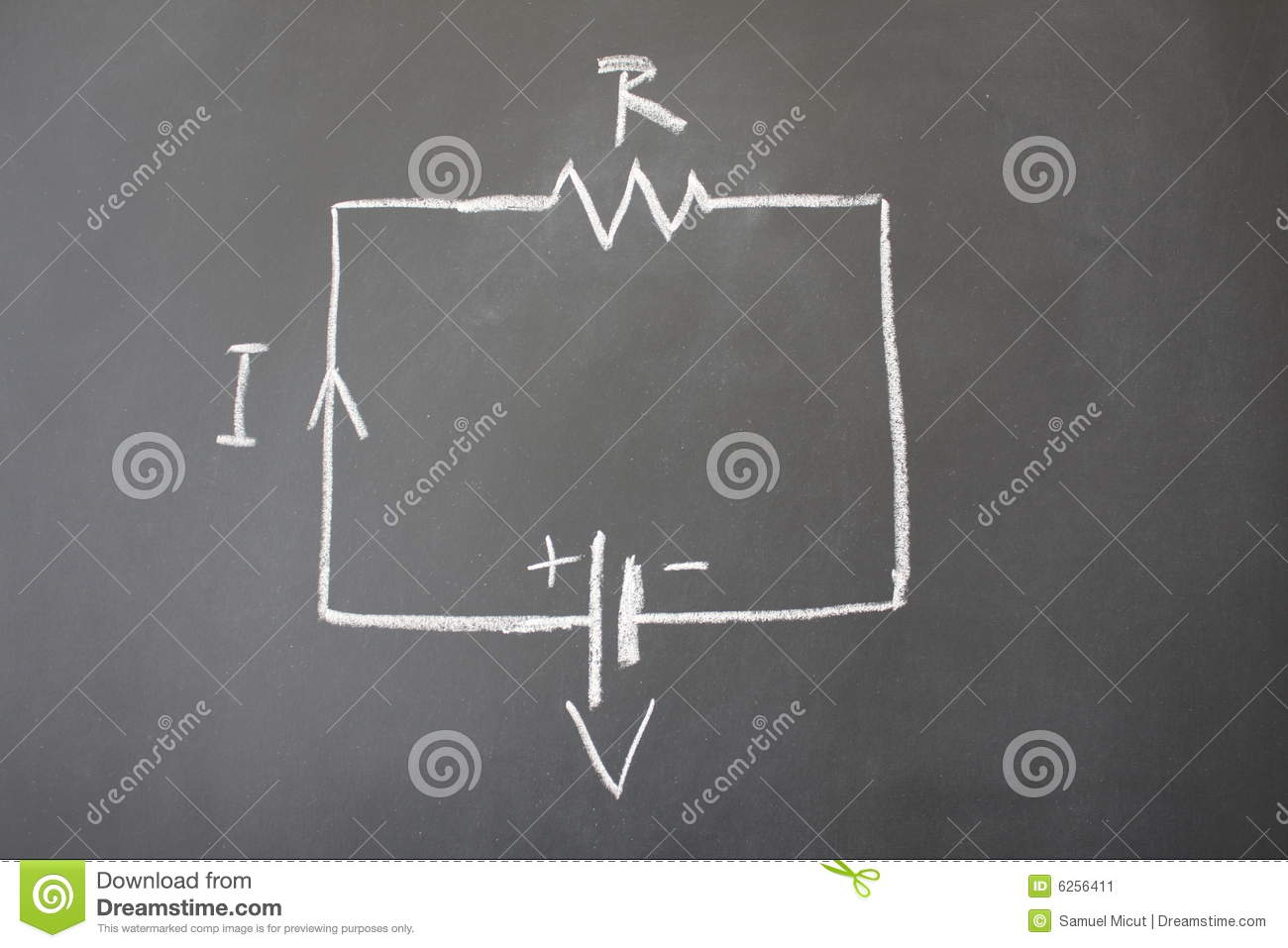 Simple Electrical Circuit Stock Image Of College 6256411 Diagram Showing A