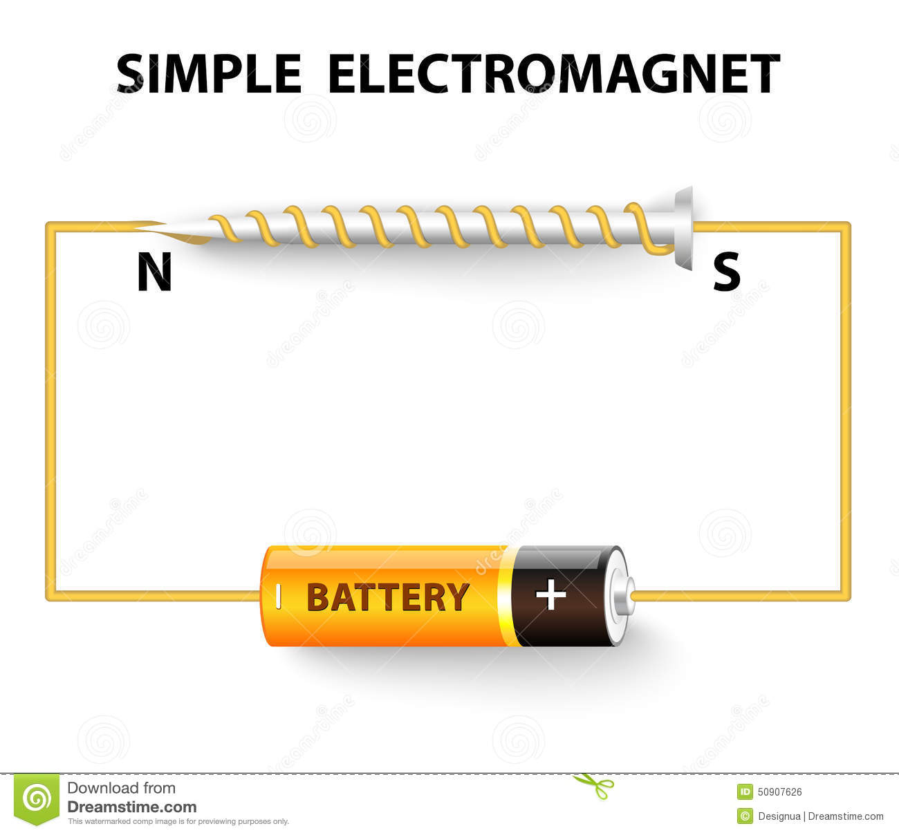 simple electromagnet stock vector  illustration of