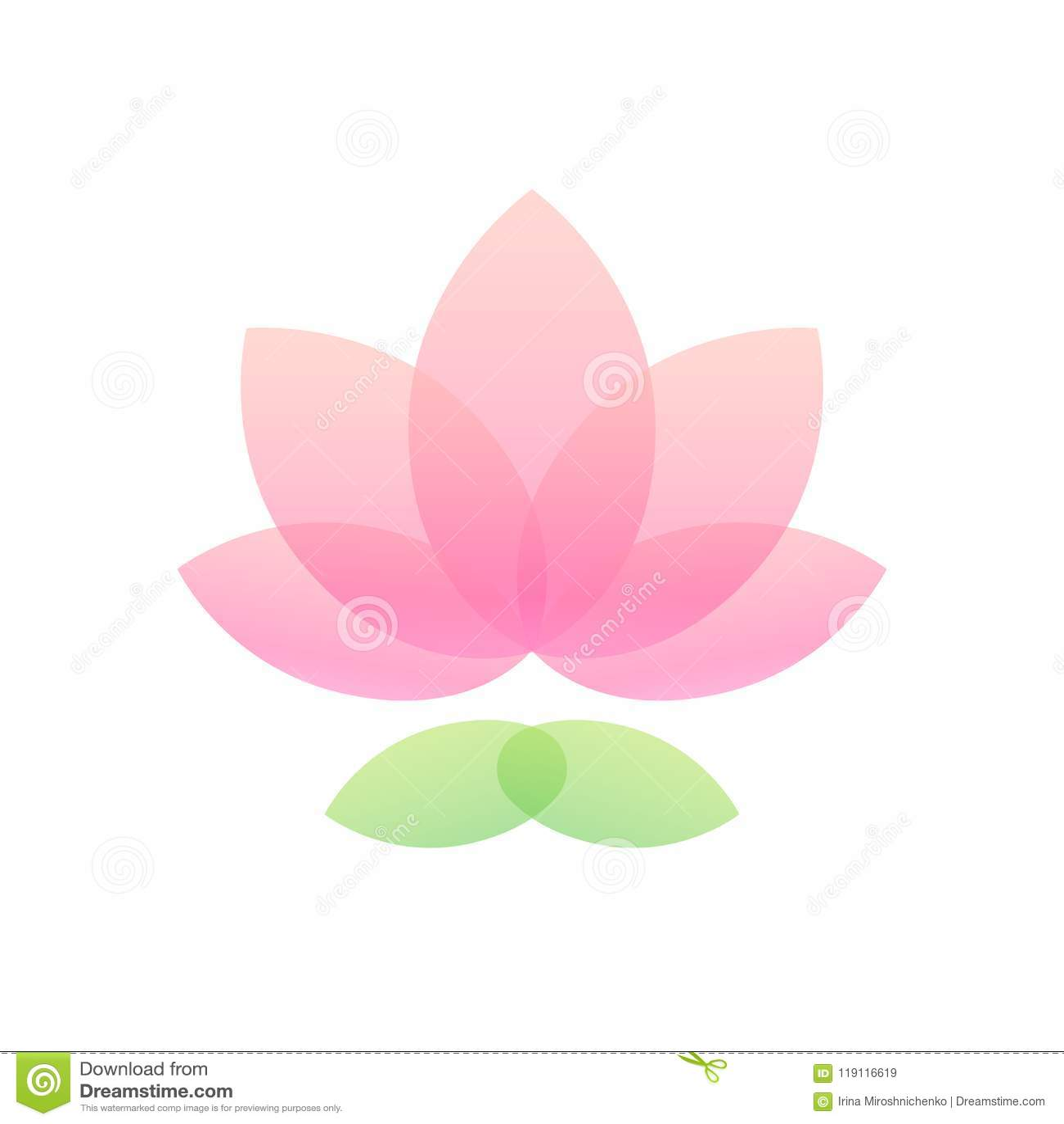 Lotus Flower Icon Stock Vector Illustration Of Medicine 119116619