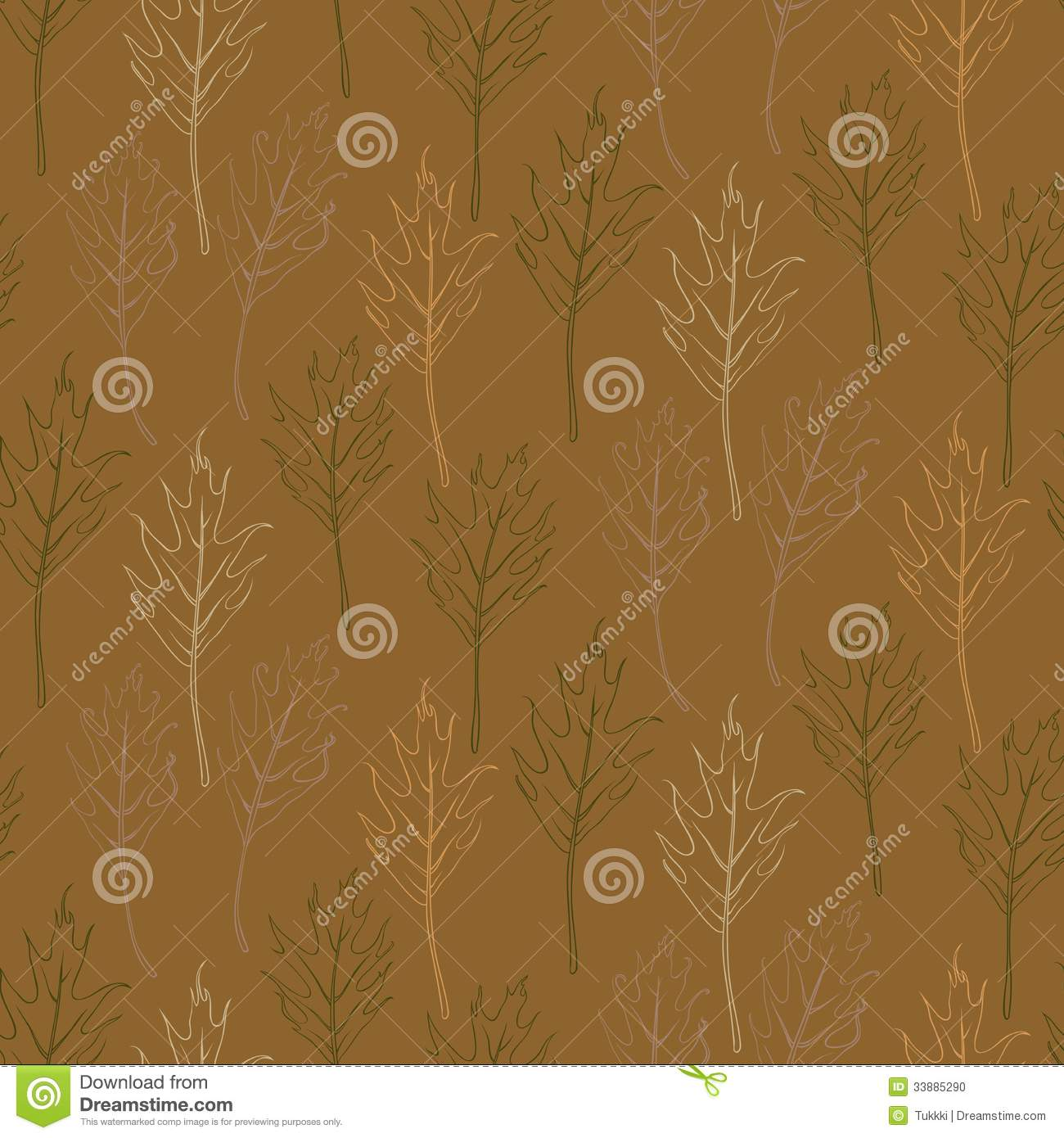 Simple and elegant pattern with oak leafs stock photo for Simple elegant wallpaper