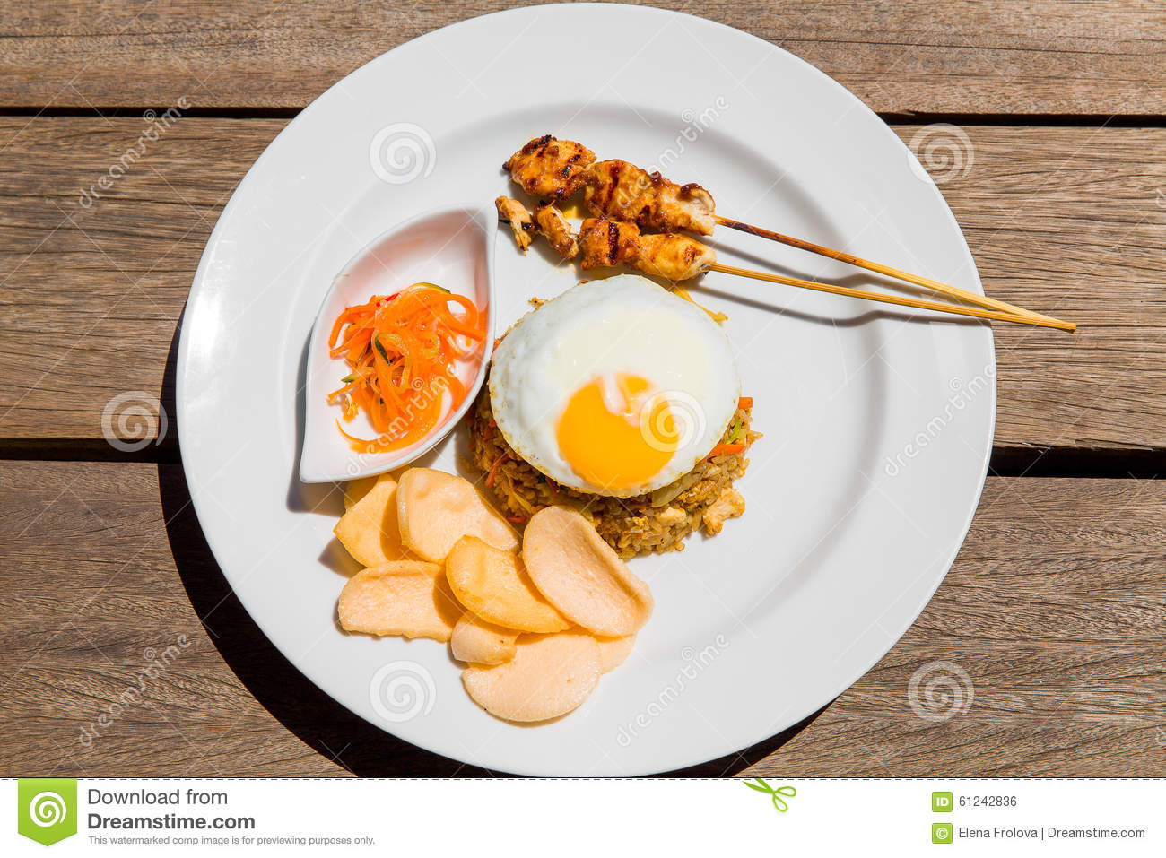 Simple english breakfast on wooden background