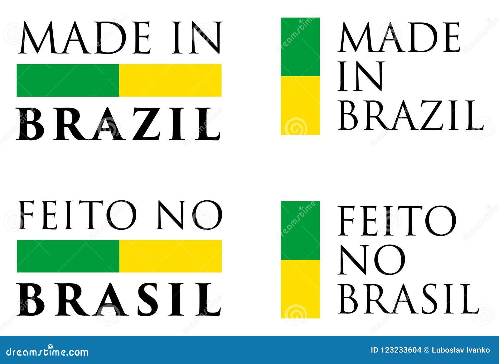 Simple fait au Brésil/au Feito aucune traduction de Portugais du Brésil
