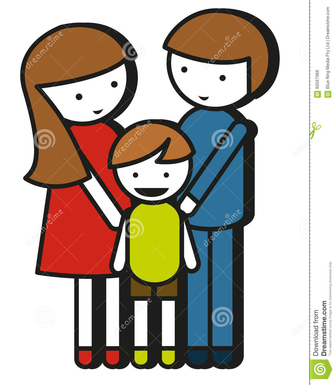simple family drawing with parents and kid stock vector.html