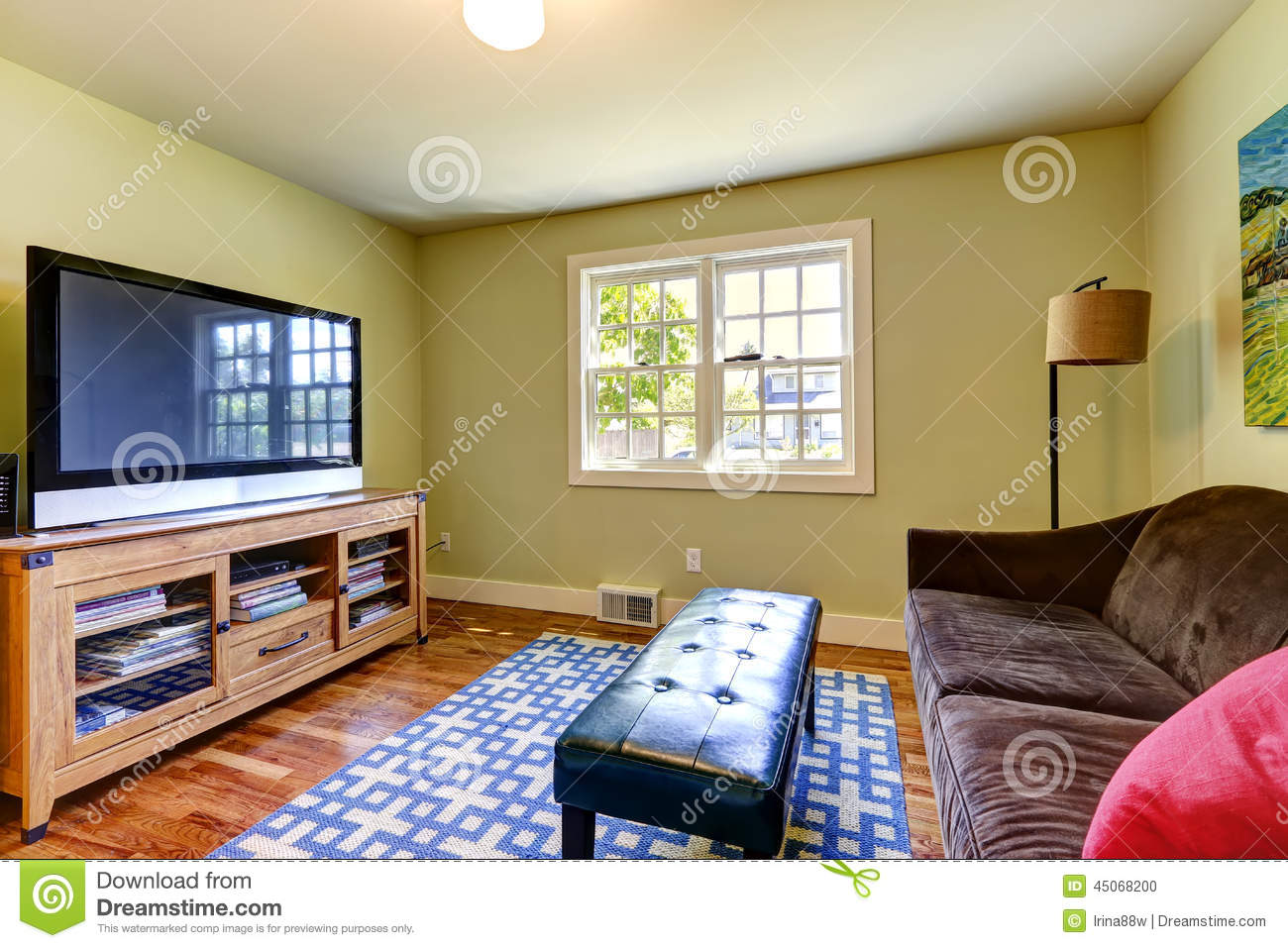 Family room with tv - Royalty Free Stock Photo