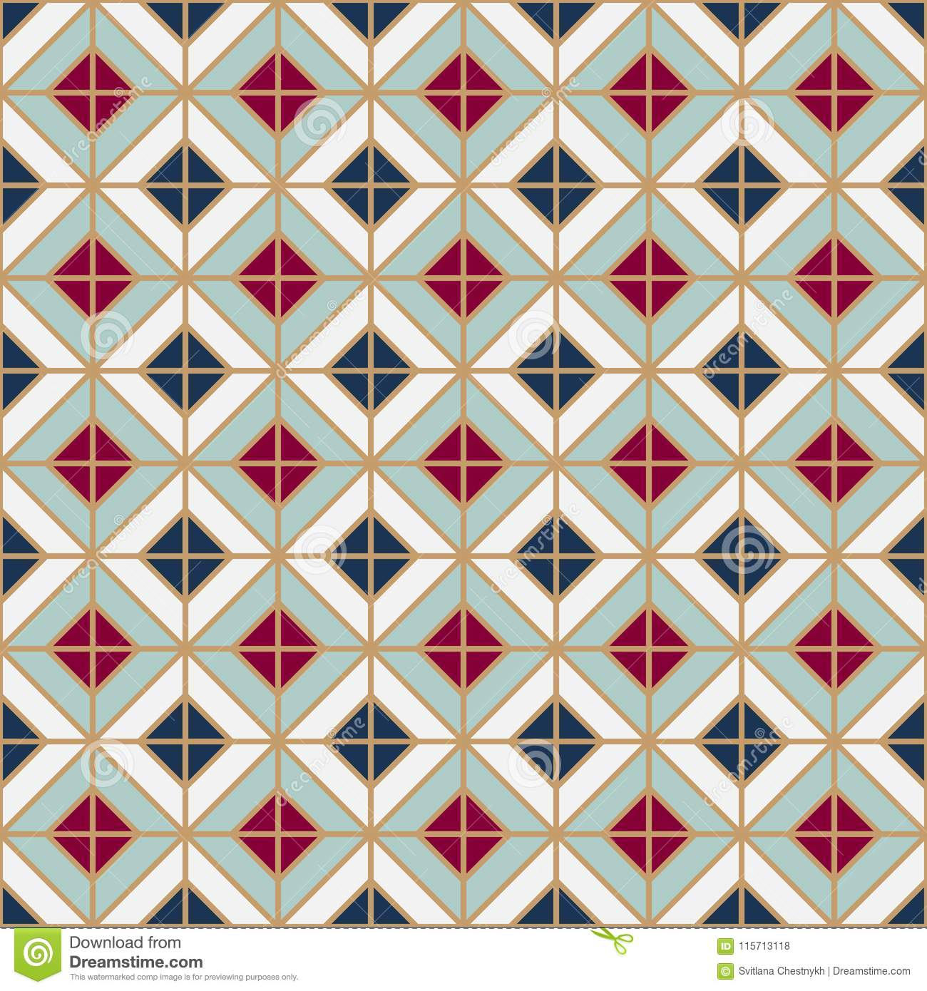 Simple Floor Tile Pattern Abstract Geometric Seamless Background