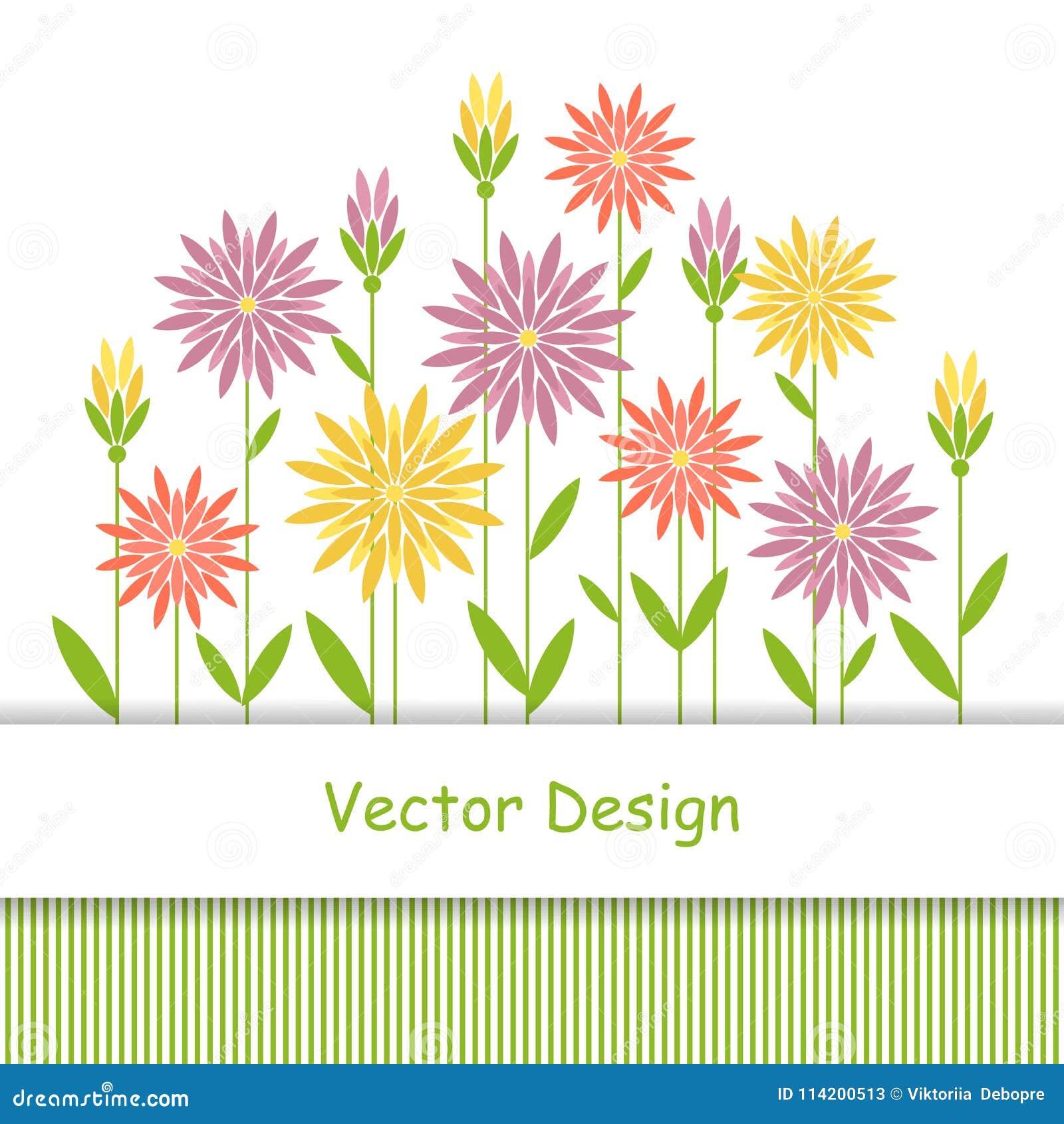 Simple Floral Background Stock Vector Illustration Of Modern