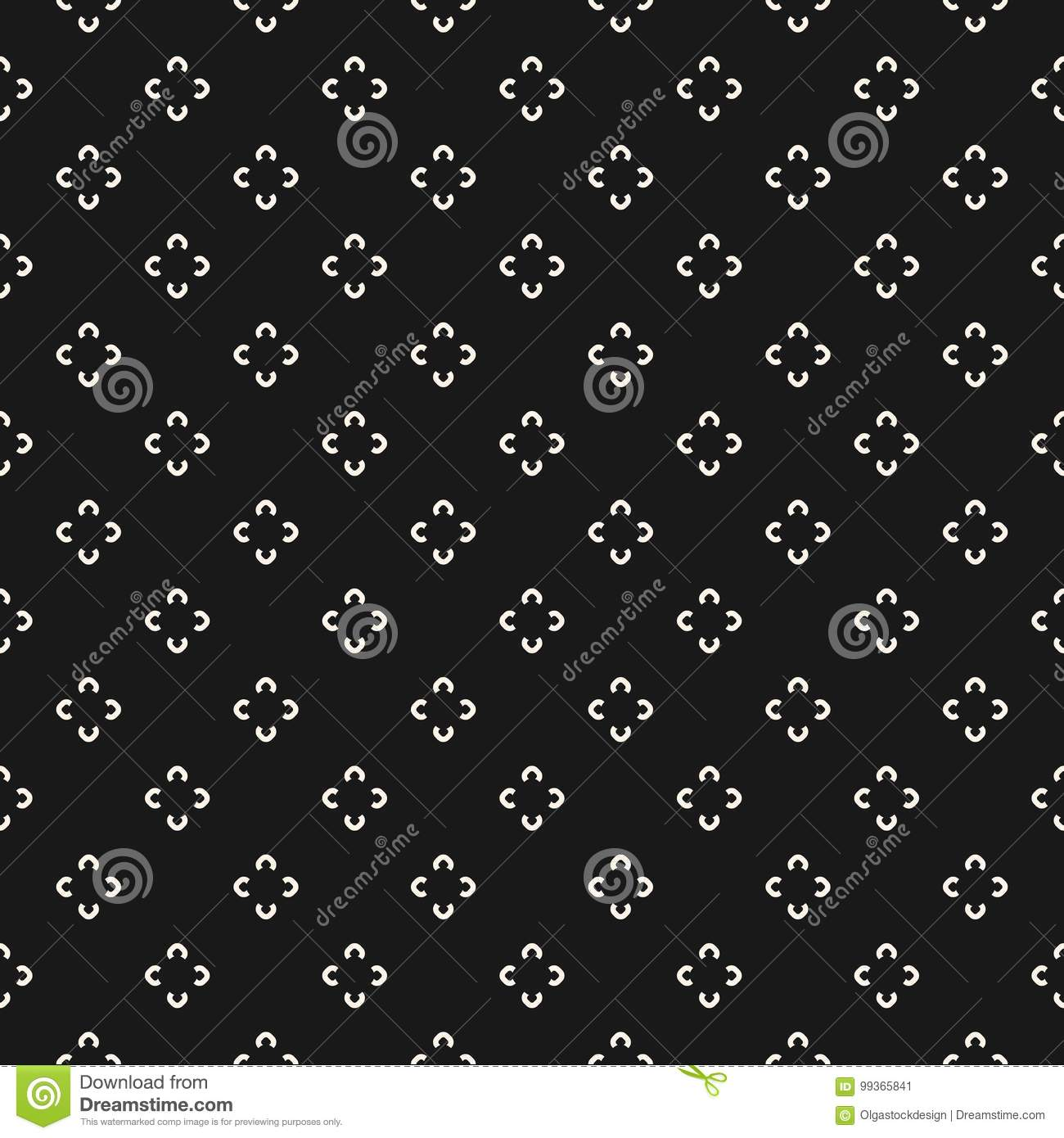 d7b115600 Simple floral pattern. Vector minimalist seamless texture with tiny flower  shapes. Abstract minimal geometric monochrome background.