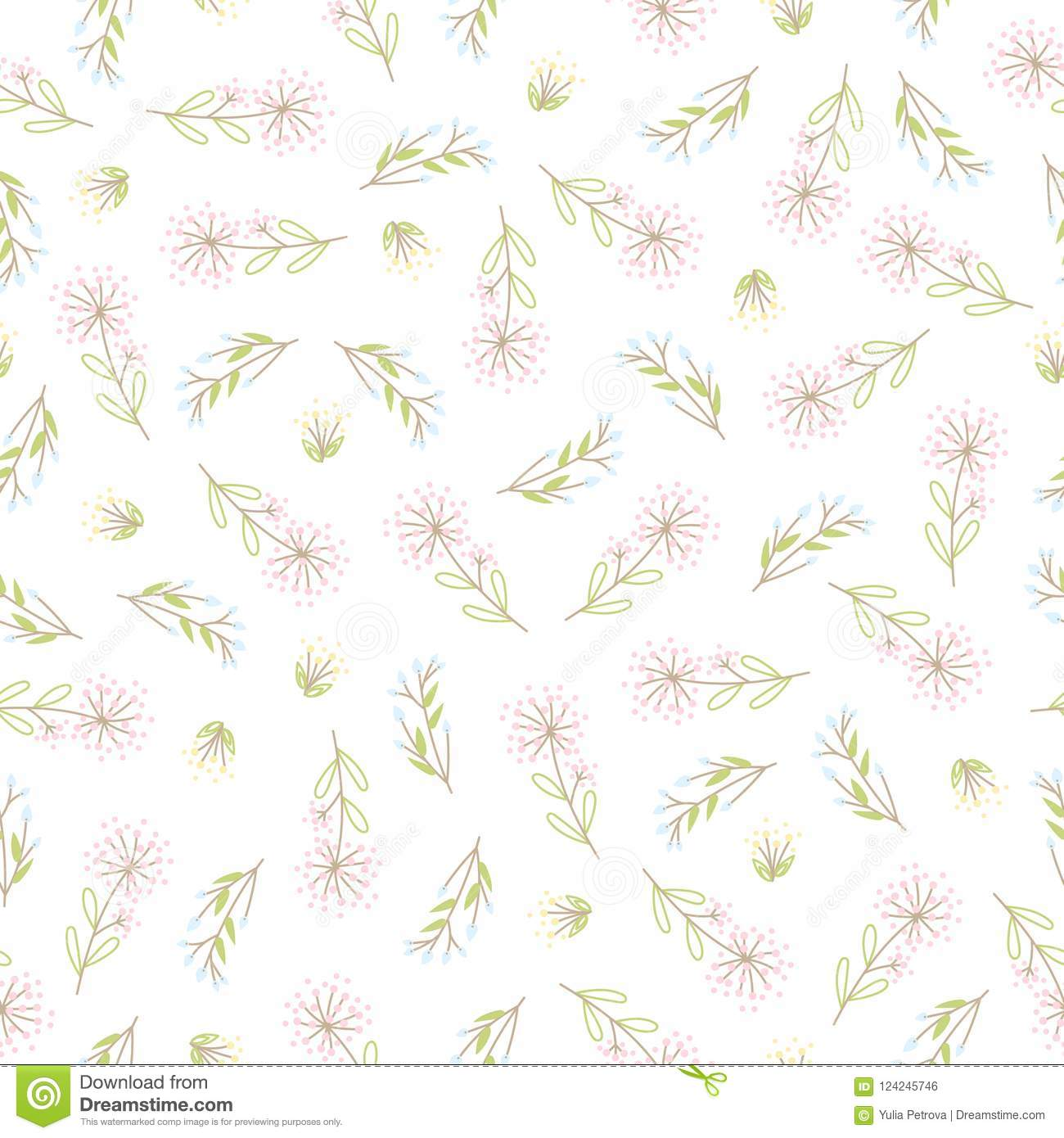 Abstract Simple Flower Pattern Stock Vector Illustration Of