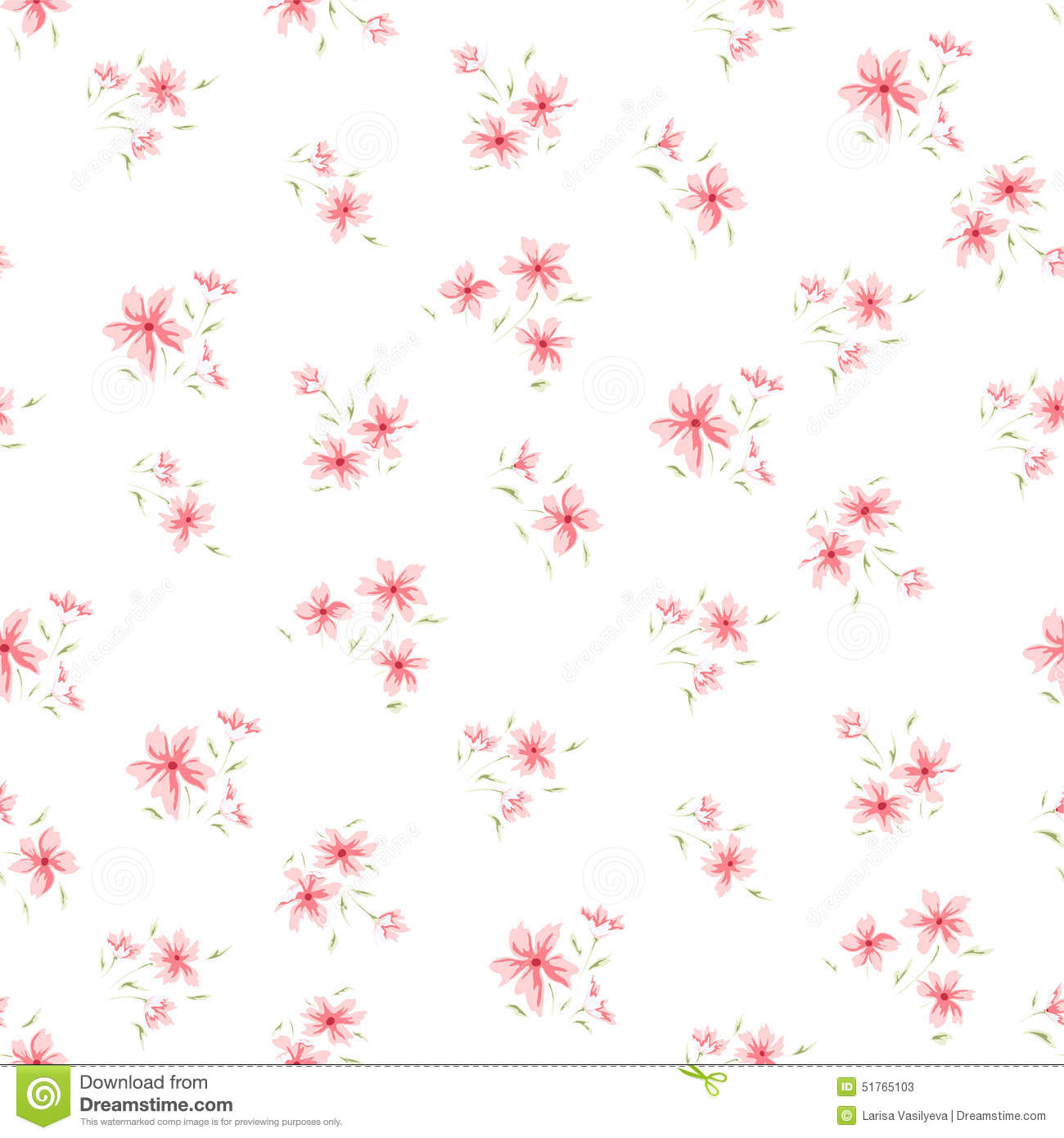 Simple flower pattern background - photo#7