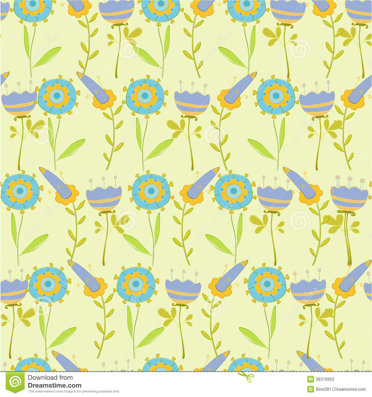 Simple flower pattern background - photo#19