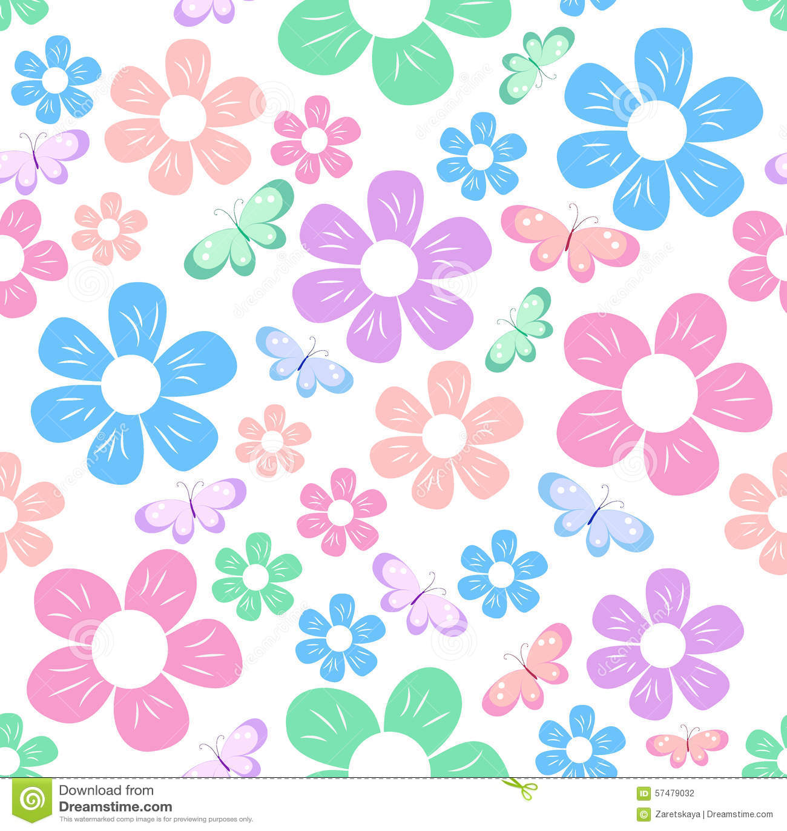 Simple flowers pattern