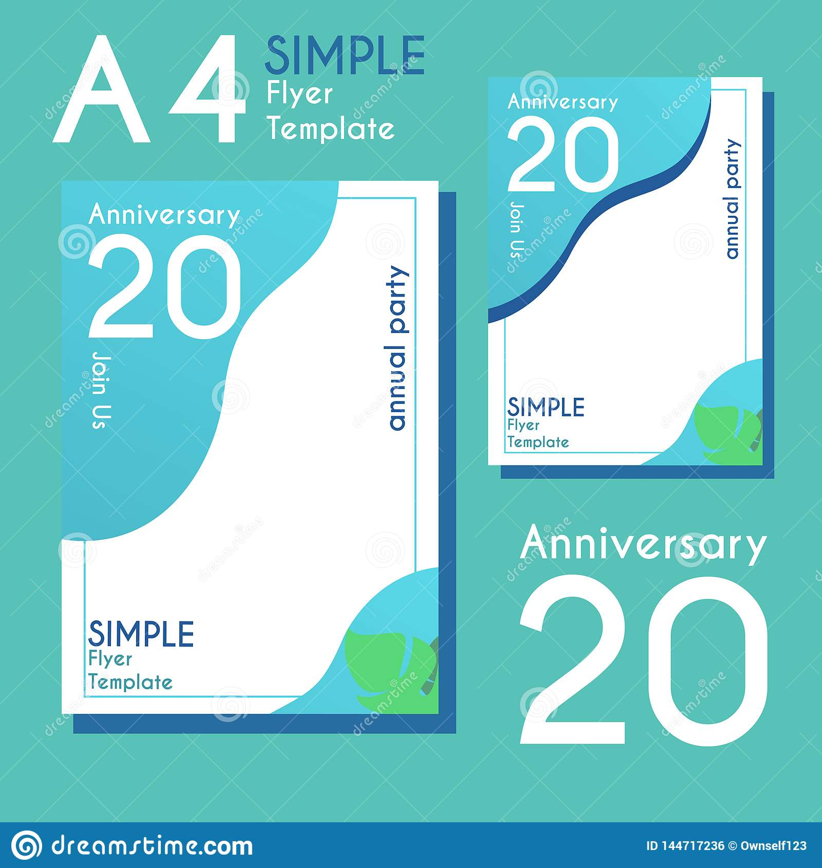 simple flyer design with two beautiful colours and