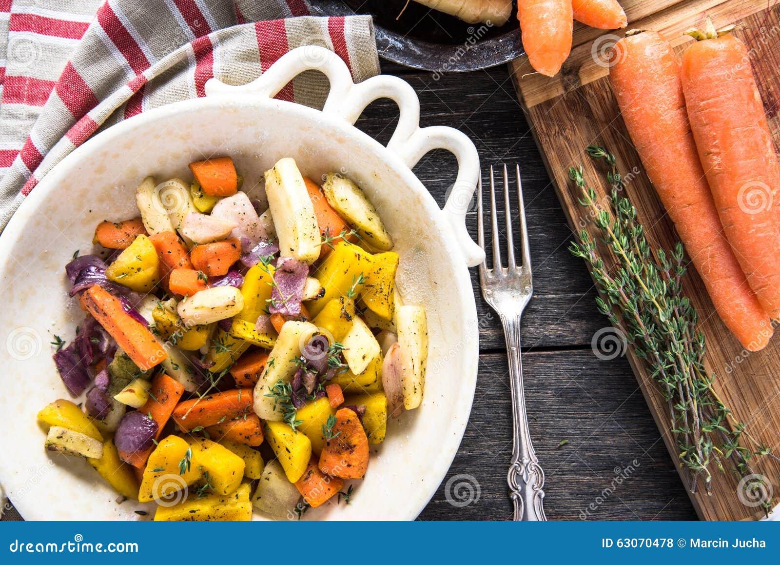 Simple food,roasted vegetables