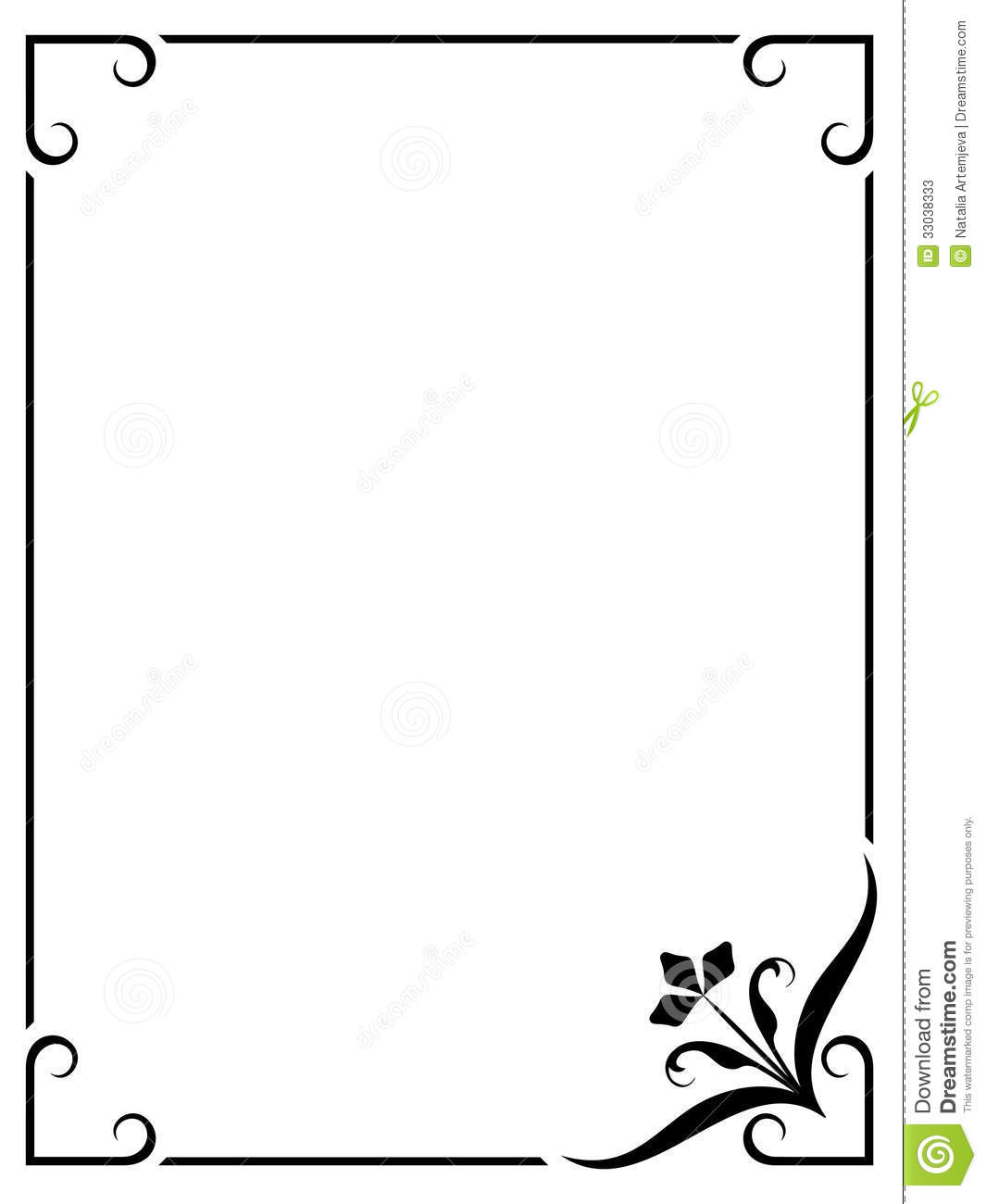 Simple frame stock vector. Illustration of background - 33038333