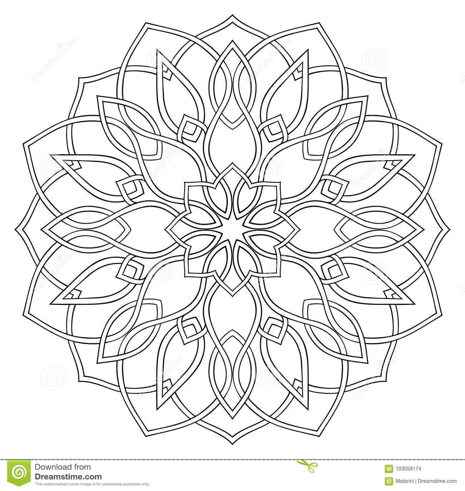 Transom Windows A Useful Design Element: Simple Geometric Mandala. Stock Vector. Illustration Of