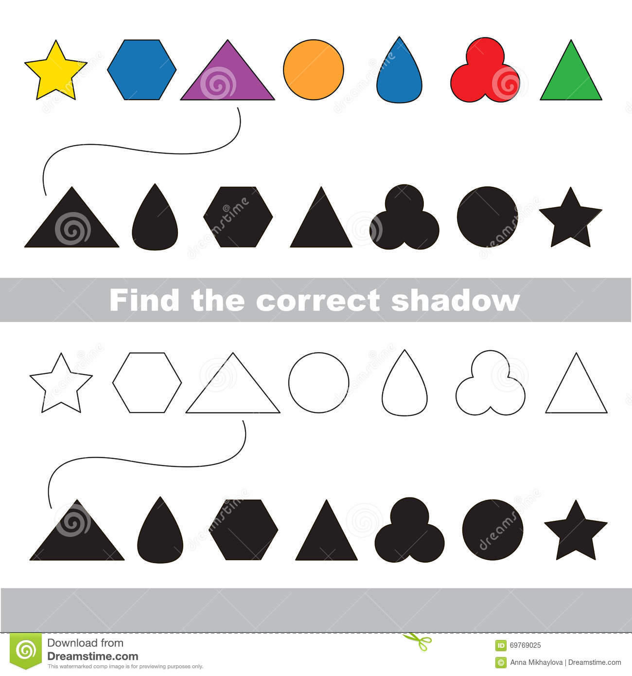 simple geometric shapes for children stock vector image 69699733