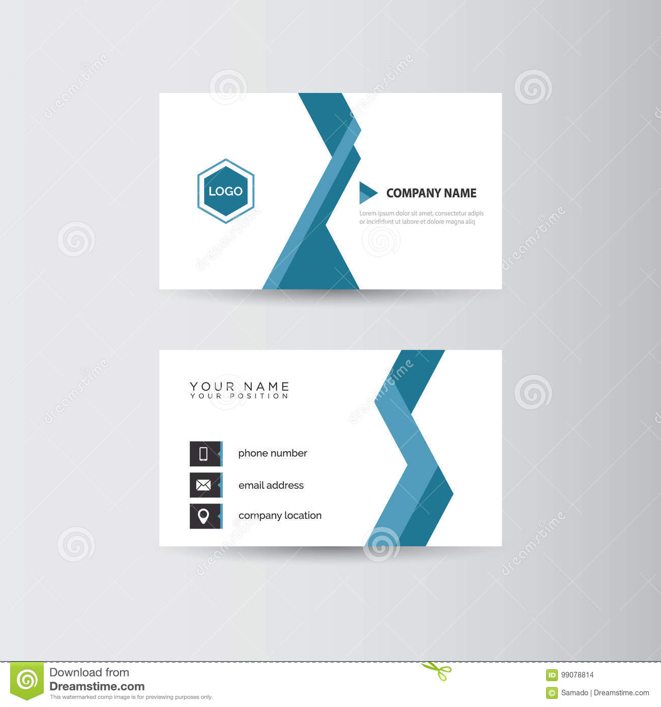 Business card template stock vector. Illustration of letterhead ...