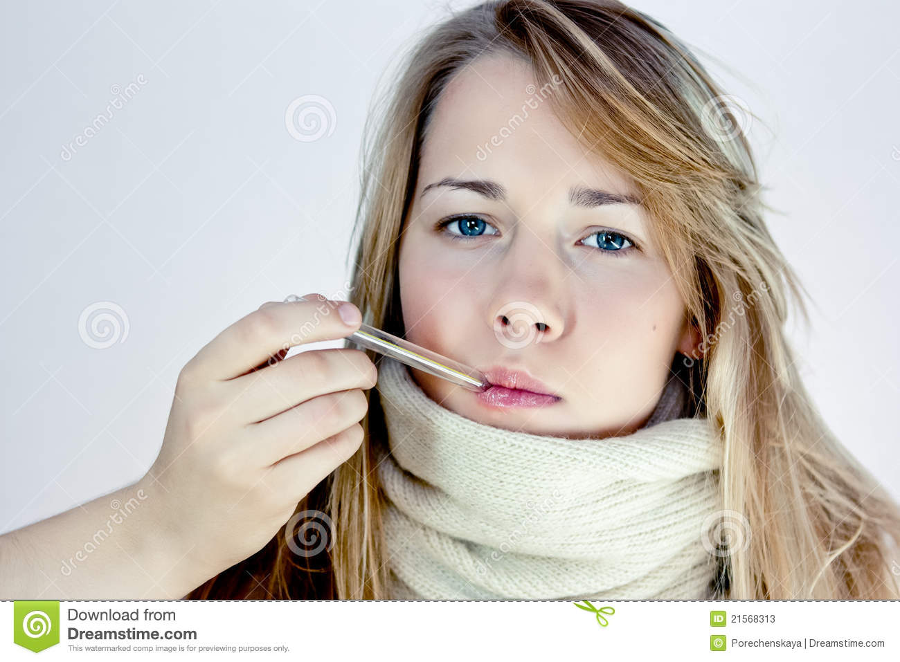 A simple girl with a thermometer stock photos image 21568313 - Simple girls photo for facebook ...