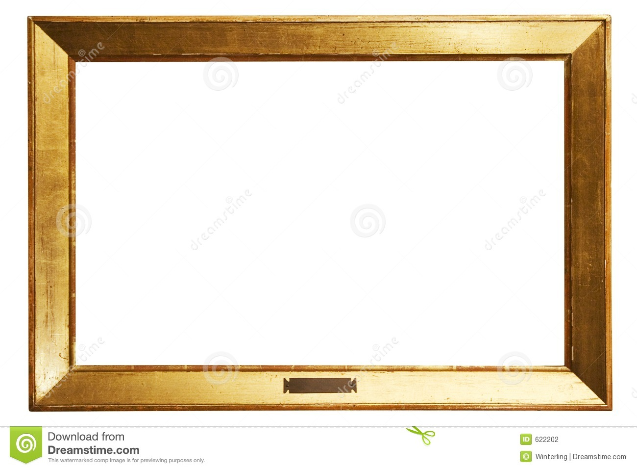 Simple Golden Frame W Path Stock Photography Image 622202