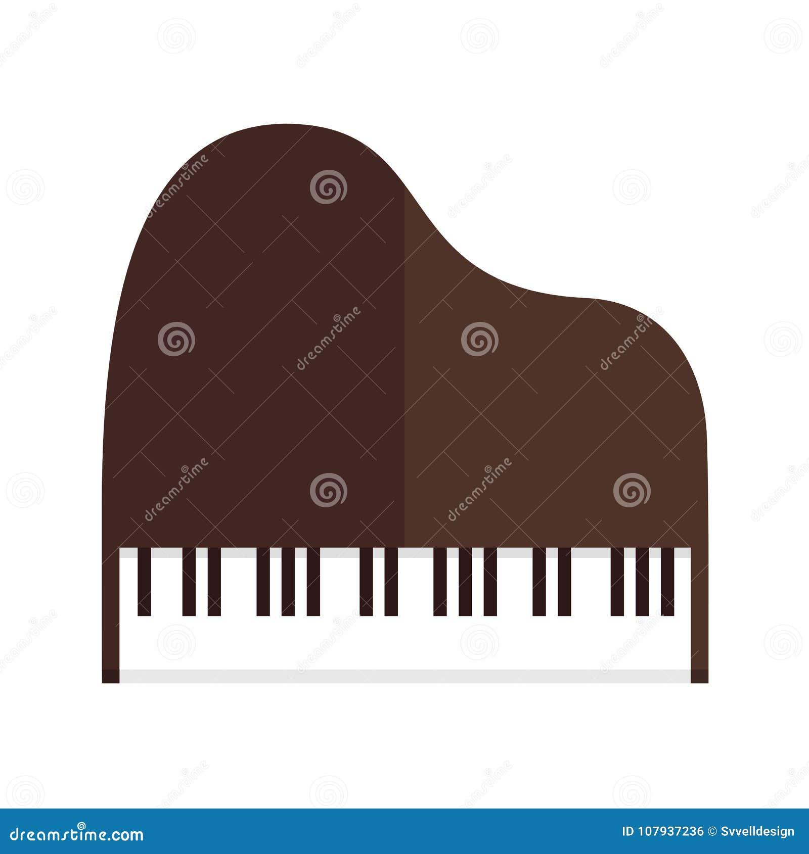 Simple Grand Piano Top View Vector Illustration Graphic Design