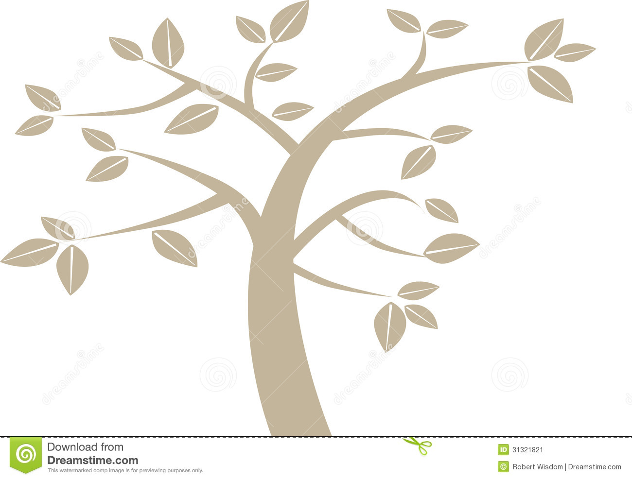 Simple Graphical Tree Stock Image Image 31321821