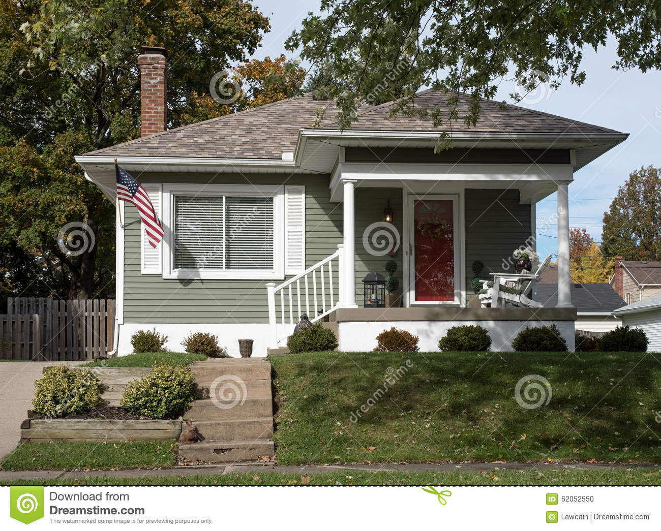 Simple Gray House Uphill Stock Photo Image 62052550