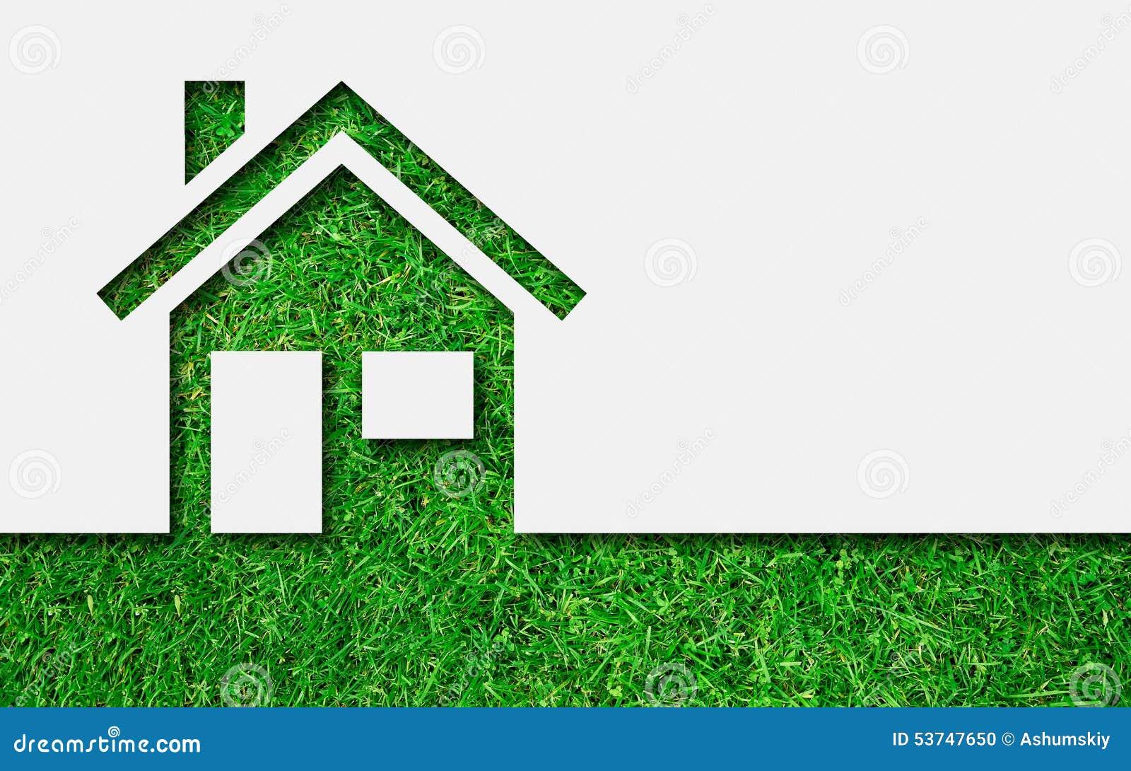 Simple Green Eco House Icon Stock Photo Image 53747650