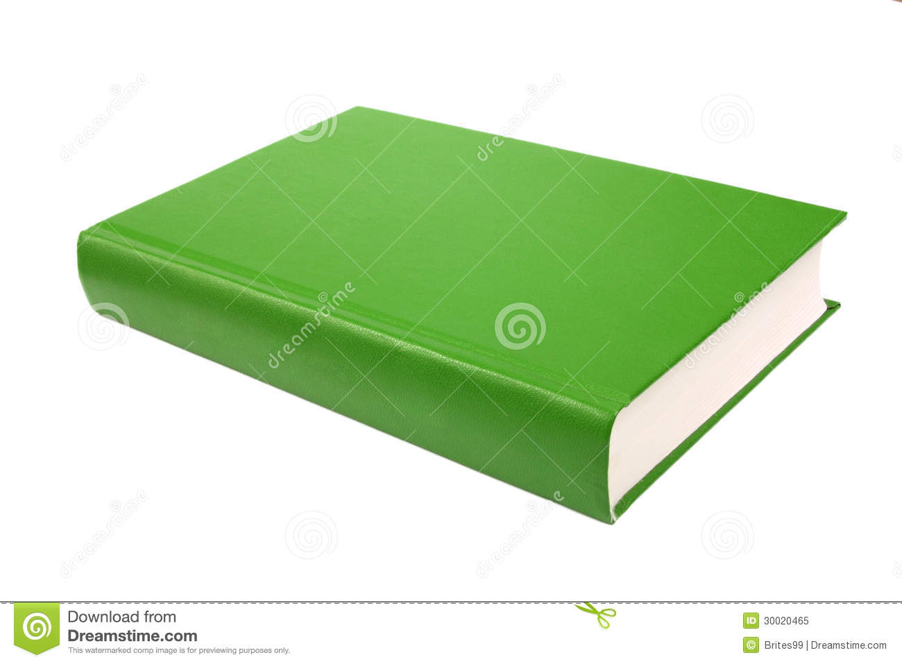 Green Book Cover Background : Thick green book isolated on white background stock image