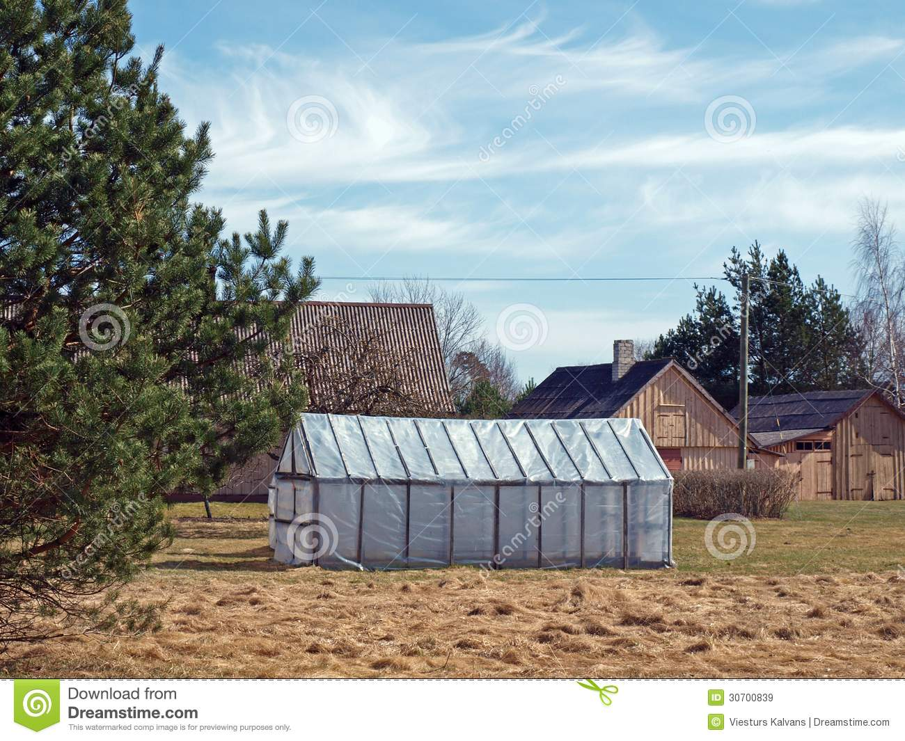 Simple greenhouse royalty free stock images image 30700839 for Country farm simples