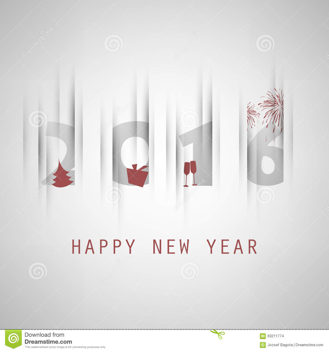 simple grey new year card cover or background design template