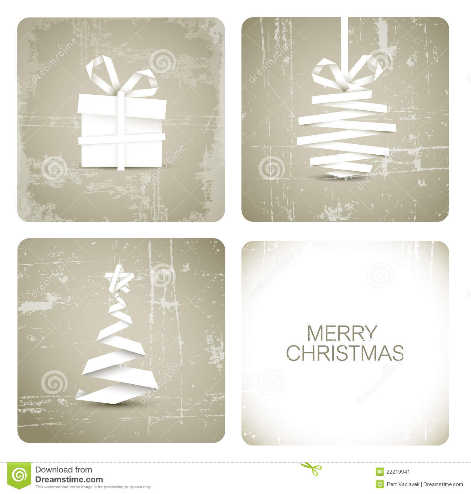 Simple Grunge Christmas Card Stock Vector - Illustration of handmade ...