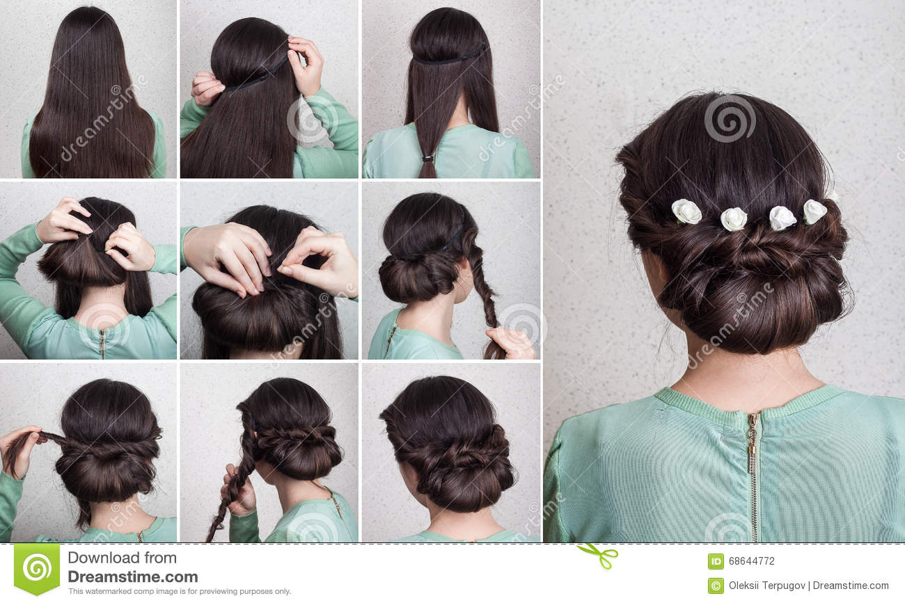 simple hairstyle tutorial stock photos, images, & pictures - 125