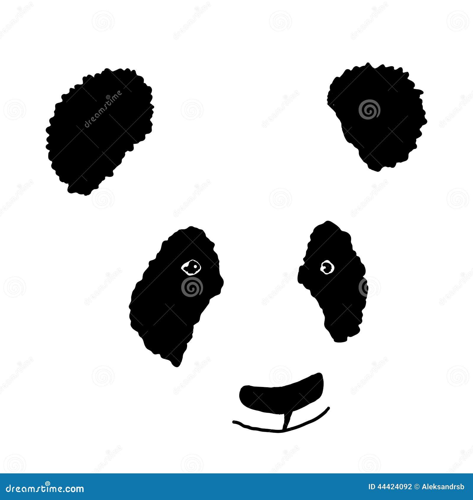 Simple Hand Drawn Panda Icon Stock Illustration Image