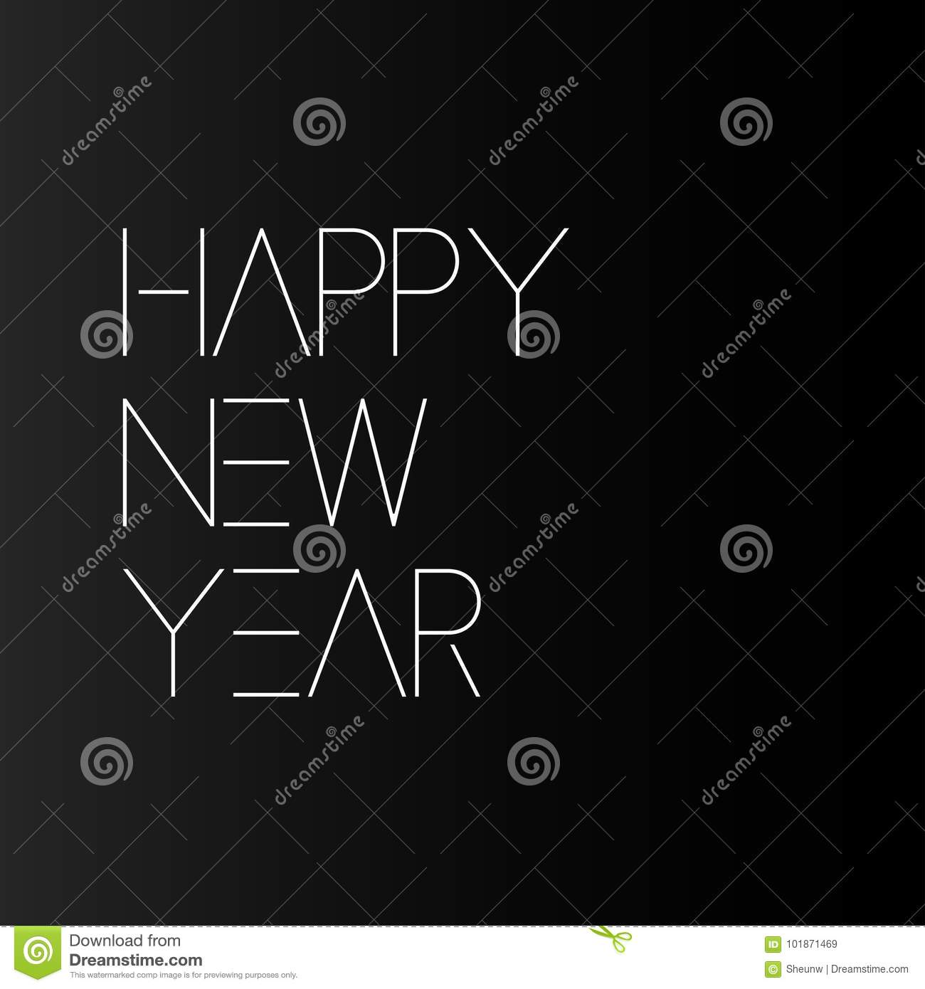simple happy new year card minimalistic design