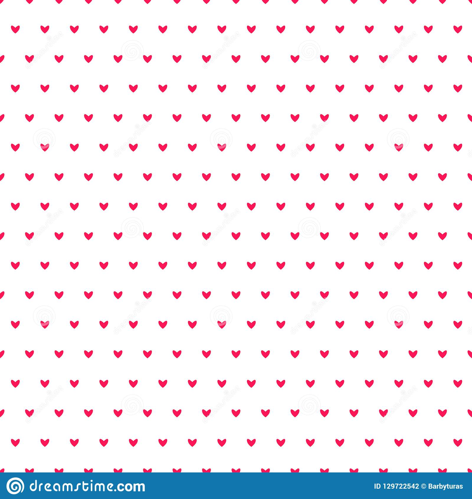 Simple hearts seamless vector pattern. Valentines day background. Flat design endless chaotic texture made of tiny heart silhouett