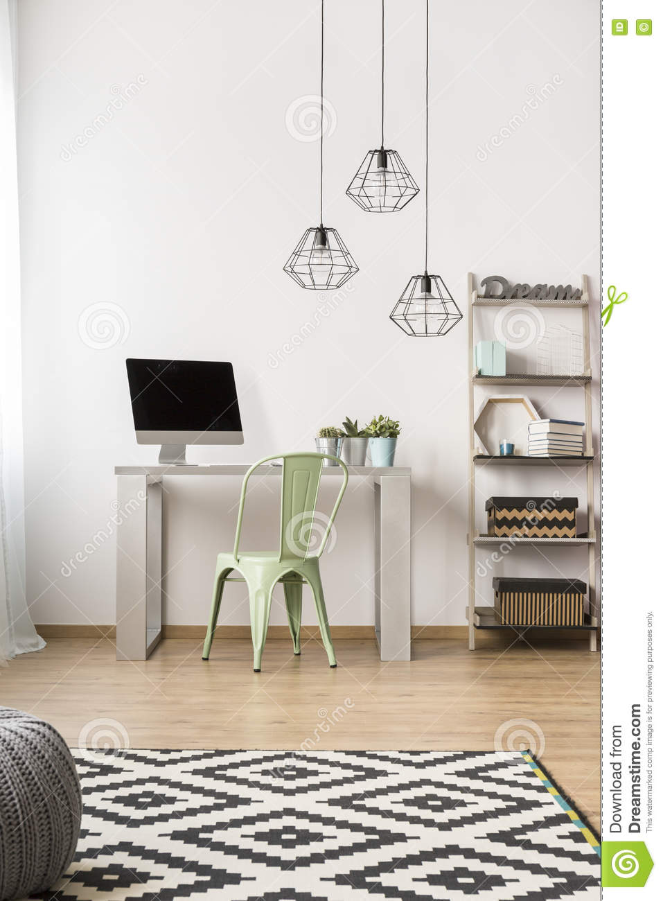 Simple Home Office Idea Stock Photo Image Of House Black