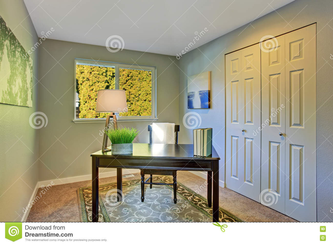 architecture simple office room guest bedroom simple home office room with antique furniture home office room with antique furniture stock photo image